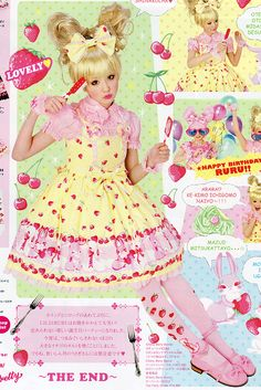 AP Cherry Berry Bunny in yellow....I want every single colour in this print xD