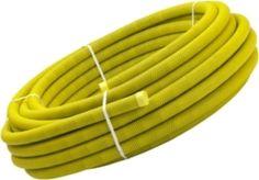 Kabelskyddsrör för mark med draglina. Korrugerad utsida och slät insida vilket gör att den uppfyller kraven för slaghållfasthet. Slät insida innebär också en förenklad idragning av kabel 50mm-110mm Gul används vanligtvis för starkström och grön används vanligtvis för svagström och orange till tele. Godkänd av nätleverantörerna till servis/inkommande rör till mätarskåp