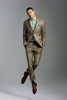 Modern suit with casual shirt