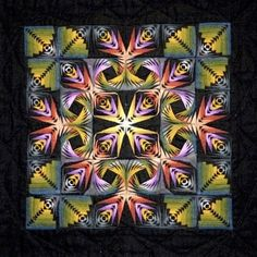 log cabin quilt pattern variations | different variations of the Log Cabin Block. 11 1/4 x 11 1/4 inches ...