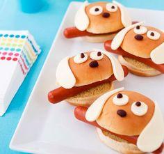 Perritos calientes, hot dog, meriendas para niños, ideas para niños www.PiensaenChic.com
