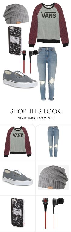 """#77"" by eglad ❤ liked on Polyvore featuring Vans, River Island, Barts, DCI and Beats by Dr. Dre"
