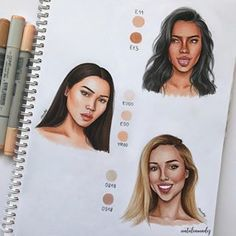 Girls ✨ I used Copic Markers and Promarkers 🖌 Informations About Natalia Madej ✨ on Copic Marker Drawings, Youtube Drawing, Pinturas Disney, Copic Art, Arte Sketchbook, Drawing Drawing, Drawing Faces, Pencil Portrait, Art Drawings Sketches