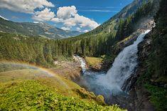 Natural wonders. Krimml waterfall, Austria