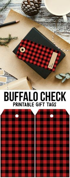 DIY Gift Wrapping Ideas : Printable Buffalo Check Gift Tags — great for the holidays or winter gift givin… Plaid Christmas, Rustic Christmas, Winter Christmas, Christmas Ideas, Xmas, Christmas Nativity, Christmas Recipes, Holiday Ideas, Christmas Crafts