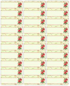 Free Address Label Rose Labels Template