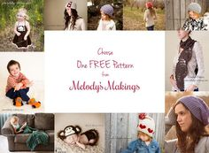 Choose one free gorgeous knit or crochet pattern from Melody's Makings!  This offer is good through 6/28 at 11:59pm (MST) only.... So don't wait!