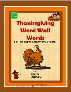 Over 50 Thanksgiving Words for Your Word Wall Needs