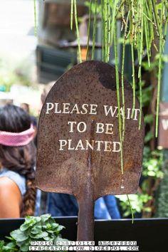 Good sign for a garden-inspired restaurant