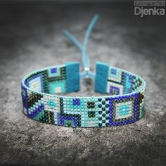 Bransoletka etniczna - beading - Lahti - Djenka Bead Loom Bracelets, Beaded Bracelet Patterns, Bead Loom Patterns, Cuff Bracelets, Jewelry Making Beads, Beaded Jewelry, Loom Beading, Bead Art, Beaded Embroidery