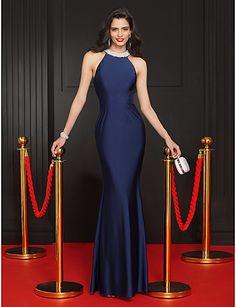 Vestido de Noche Sirena Azul Marino Oscuro @ Vestidos de Fiesta Baratos Blog
