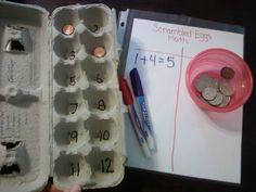 Home School Math Games - Scrambled Eggs Math!