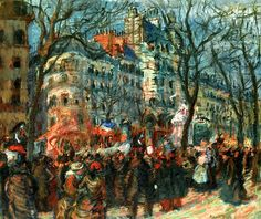 Carnival on the Grands Boulevards, 1903 Raoul Dufy