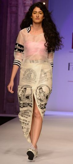 http://www.kalkifashion.com/designers/masaba.html  Models walk the ramp in masaba outfit at Wills Lifestyle Indian Fashion Week Spring Summer 2014