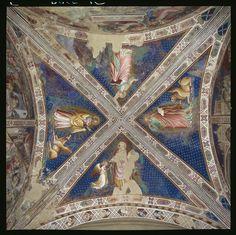 Spinello Aretino - Storie di Santa Caterina d'Alessandria - Volta con Evangelisti - affresco - 1348-1387 - Oratorio di Santa Caterina delle Ruote - Bagno a Ripoli (Firenze)