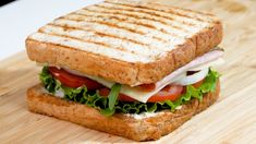 Sandwich Sauces, Sandwich Recipes, Havarti Cheese, Ham And Cheese, Sliced Ham, How To Make Sandwich, Delicious Sandwiches, Butter Sauce, Korean Food