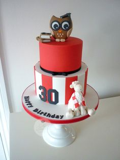 Joint 30th & 60th birthday cake | par The Designer Cake Company