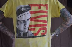 70s RARE Elvis Presley Leather Daddy Pop Art Punk T Shirt