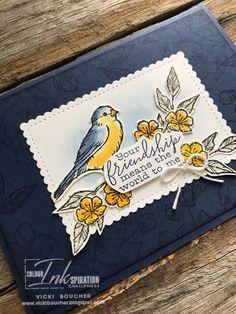 Vicki Boucher Stampin' Up! Demonstrator Australia: Free As A Bird Theme Nature, Book Design Layout, Design Design, Graphic Design, Bird On Branch, Friendship Cards, Bird Cards, Stamping Up Cards, Basic Grey