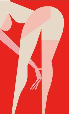 Silkscreen from Ladislav Sutnar's Strip Street series (1963) and more, inspired by New York after dark.