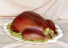 roast turkey cake video (airbrushed version) - SugarEd Productions