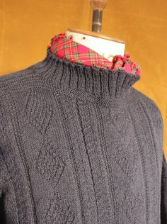 Bridlington Gansey Sweater - Hand knitted in England - Wayside Flower