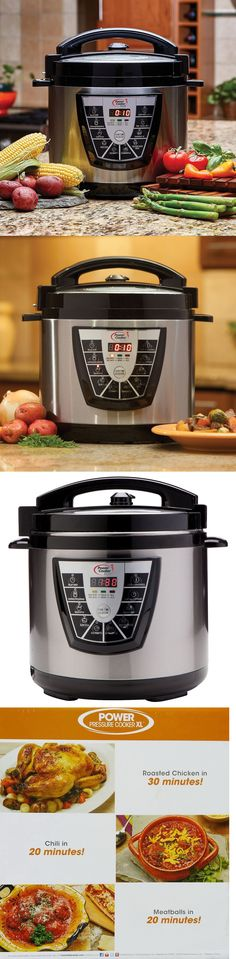 NO TAX Power Pressure Slow Cooker XL Pot Canning Quart Crock Kitchen 10 QT