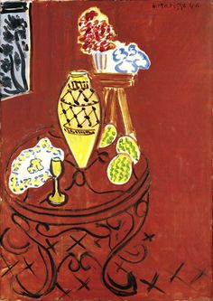 Henri Matisse (French, 1869–1954)  Interior in Venetian Red, 1946  Oil on canvas; 36 1/4 x 25 9/16 in. (92 x 65 cm)  Royal Museums of Fine Arts of Belgium, Brussels