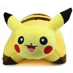 The Pikachu pillow pet is based on the famous character Pikachu from the Pokemon cartoon series. The Pikachu pillow pet is very soft, has good quality stuffing inside and cuddly soft plush fabric cove