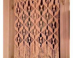 Macrame Curtain. HANDMADE. Macrame wall hanging  ecru macrame