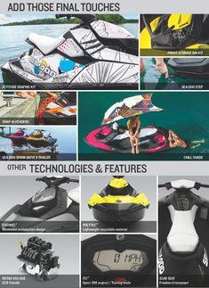 Sea doo Spark accessories - shade, flush kit, front storage kit
