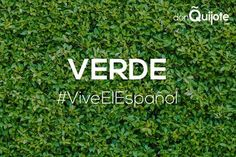 Spanish Word of the Day: VERDE #Spanish #LearnSpanish