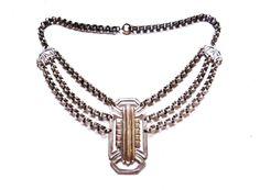 Vintage Silver Art Deco Necklace Festoon by IfindUseekVintage, $48.50
