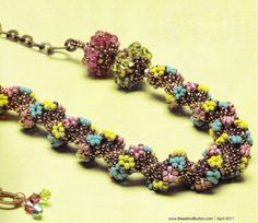Floral beaded spiral - 1