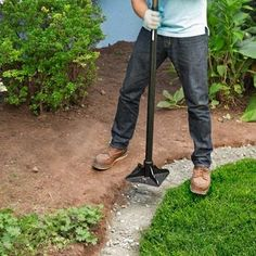 Garden Designs Ideas 2018 : packing paver base into trench how to edge a garden bed with brick pavers