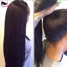 NEW High Ponytail Virgin Brazilian Silky Straight Full Lace Wig Glueless Long Straight Full Lace Human Hair Wigs For Black Women - http://jadeshair.com/new-high-ponytail-virgin-brazilian-silky-straight-full-lace-wig-glueless-long-straight-full-lace-human-hair-wigs-for-black-women/  Wigs