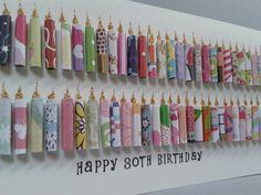 Große glücklich Geschenk zum 80. Geburtstag Kerze Card.Can