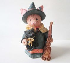 Witch Pig Figurine Enesco This Little Piggy by MetalsomeSwine