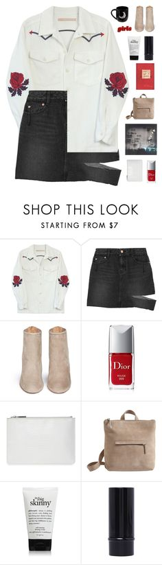 """""""i miss the old you ☆"""" by scattered-parts ❤ liked on Polyvore featuring Bliss and Mischief, SJYP, Aquazzura, Christian Dior, Whistles, Jigsaw, philosophy and kats13k"""