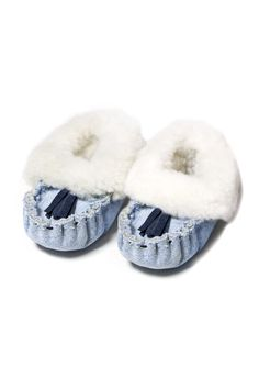 Recycled Denim Baby Slippers