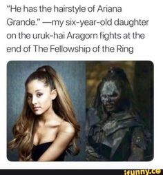 44 Of Today's Freshest Pics And Memes Well all orcs look alike. And that would explain why her music sounds like the chant during helmsdeep Fellowship Of The Ring, Lord Of The Rings, O Hobbit, Hobbit Funny, Aragorn, Gandalf, Middle Earth, Lotr, I Laughed