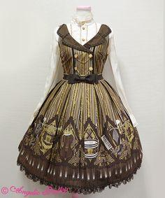Angelic Pretty Quartet Chocolat collar JSK