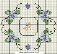 Resultado de imagen para fleurs au point de croix