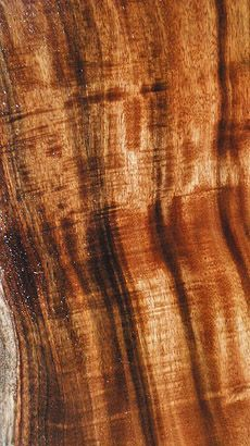 Koa- This Hawaiian wood just glows!  Easy to work with and finishes like a dream.
