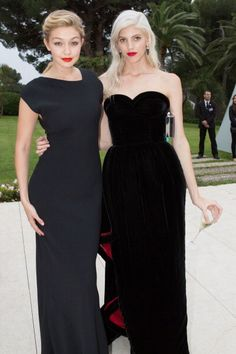 Gigi Hadid and Devon Windsor attend amfAR's 21st Cinema Against AIDS Gala presented by WORLDVIEW BOLD FILMS and BVLGARI at Hotel du CapEdenRoc on May...