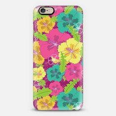 Love this colorful floral pattern design on phone cases. Check out this design on Casetify!
