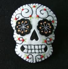 Embroidered skull.