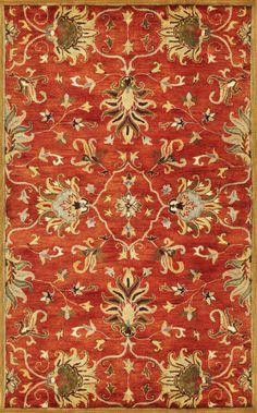 Kas Oriental Syriana Agra Sienna Rug | Traditional Rugs #RugsUSA