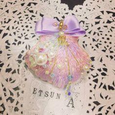 ラベンダー刺繍シェル - Etsuna Otsuka