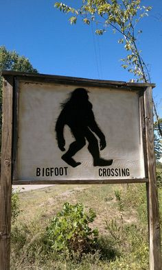 Bigfoot sign in Oklahoma
